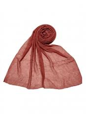 Stole for Women Premium Cotton Crush Diamond Stole in Maroon