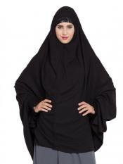 Mushkiya Khimar Nida Matte Ready To Wear Instant Hijabs In Black