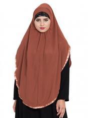 Mushkiya Khimar Nida Matte Ready To Wear Instant Hijabs In  Rust