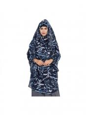 Mushkiya Khimar Georgette Ready To Wear Instant Hijabs In Blue