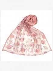 Stole For Women Premium Cotton Digital Flower Printed Stole in Pink