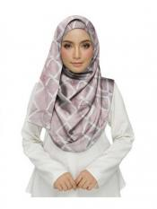 Stole For Women Premium Cotton Designer Zic Zac Grid Hijab in Pink