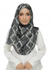 Stole For Women Premium Cotton Designer Zic Zac Grid Hijab in White