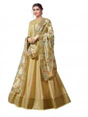 Fashion Basket Sana Silk Semi Stitched Gown in Image