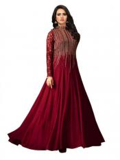 Fashion Basket Faux Georgette Embroidered Salwar Suit Gown Image