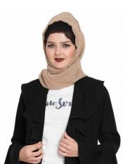 Bashariya Super Fine Georgette Long and Wide Stole Hijab in Beige