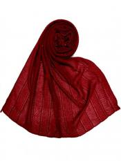 Stole For Women Premium Cotton Striped Collection Diamond Studed Stole In Maroon