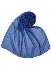 Stole For Women RESTOCKED BEST SELLER BACK IN STOCK Premium Cotton Rain Drop Hijab Blue