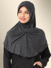 Mehar Azeeza Ready to wear modest hijab In Black
