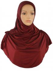 Mehar Rania Ready to wear modest hijab In Dark Brown Maroon