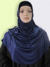 Mehar Rania Ready to wear modest hijab In Navy Blue