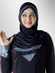Mehar Rifah Ready to wear Instant hijab In Black and Grey