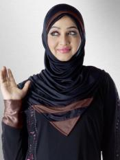 Mehar Rifah Ready to wear Instant hijab In Black