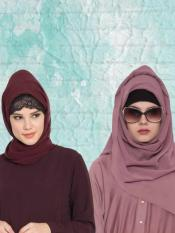 Super Fine Georgette Set of Two Stole Hijabs in Wine and Mauve