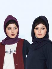 Super Fine Georgette Set of Two Stole Hijabs Image