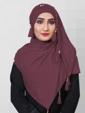 Two Way Hosiery Cotton Hijab In Purple