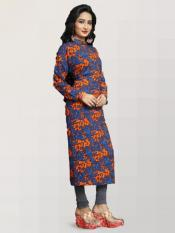 Rayon Soft Cotton Kurtis with Printed  in Multi color