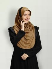 Naaz Knitted Icra Fabric Instant Hijab In Gold