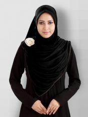 Anarkali Xtra Soft Knitted Icra Instant Hijab In Black