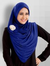 Anarkali Xtra Soft Knitted Icra Instant Hijab in RoyalBlue