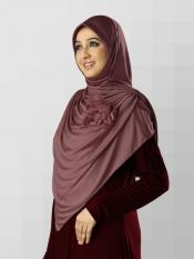 Anarkali Xtra Soft Knitted Icra Instant Hijab in Coffee