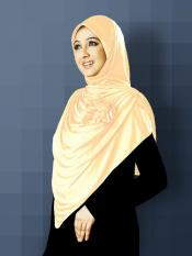 Anarkali Xtra Soft Knitted Icra Instant Hijab in Cream