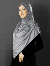 Anarkali Xtra Soft Knitted Icra Instant Hijab in Silver