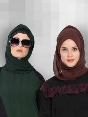 Set of Two Stole Super Fine Georgette Hijabs Image
