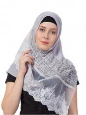 Limited Stock Rich Cotton Designer Diamond Work Hijab In Grey