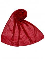 Choice Premium Rich Cotton Rain Drop Hijab In Maroon