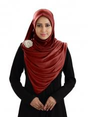 Anarkali Xtra Soft Knitted Icra Instant Hijab In Dark Maroon