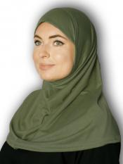 Cotton Lycra Instant Hijab In Seaweed