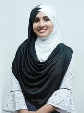 Turban Soft Knitted Icra Double Shaded Instant Hijab In Black And White