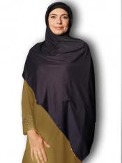Soft Knitted Icra Fabric Stoles With Strips In Charcoal