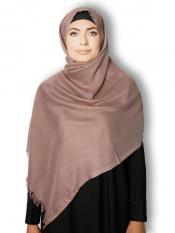 Turkish Pashmina Plain Stoles In Pale Brown