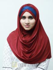 Turban Soft Knitted Lycra Instant Hijab With Shining Image
