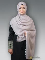 Soft Poly Mix Plain Stole In  Pigeon Grey