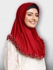 Faiqa Instant Hijabs In Red