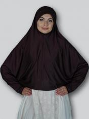 Farashah Instant Hijabs With Sleeve In Coffee