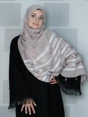 Premium Cotton Stole With Tessel Work In Careys Pink