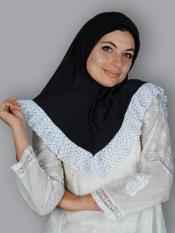 Aleema Instant Hijabs In Black And White Image