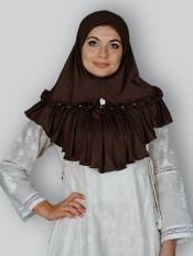 Aaima Instant Hijabs In Dark Brown