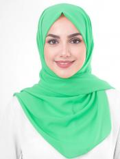 Poly Georgette Scarf In Green