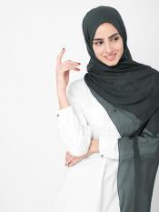 100% Poly Chiffon Scarf In Charcoal Grey