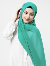 Poly Georgette Scarf In Aqua Green