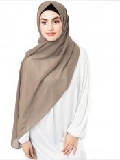 Poly Georgette Scarf  In Natural Beige