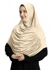 Aasimah Polycotton Instant Hijab In Beige