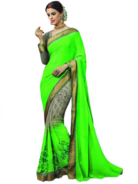 Harlequin Color Traditional Saree