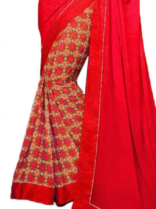 Red Color Traditional Saree