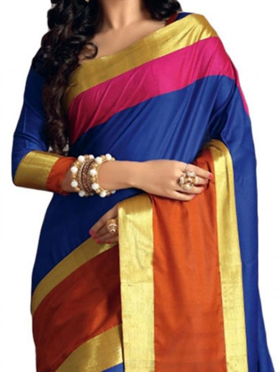Blue Color Designer Fancy Saree